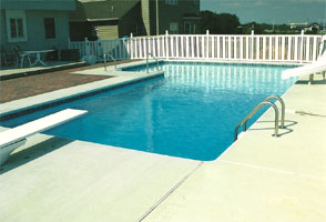 an inground pool installation by George Neiderer Pools