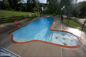 an inground pool installed by George Neiderer Pools
